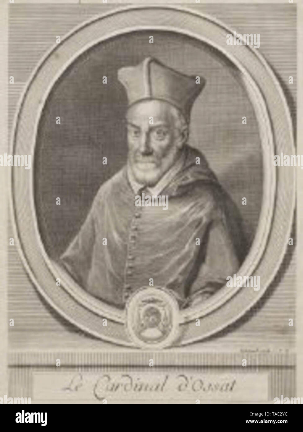 Arnaud d'Ossat (20 July 1537 – 13 March 1604) was a French diplomat and writer, and a Cardinal of the Roman Catholic Church, whose personal tact and diplomatic skill steered the perilous course of French diplomacy with the papacy in the reign of Henry IV of France - Stock Image