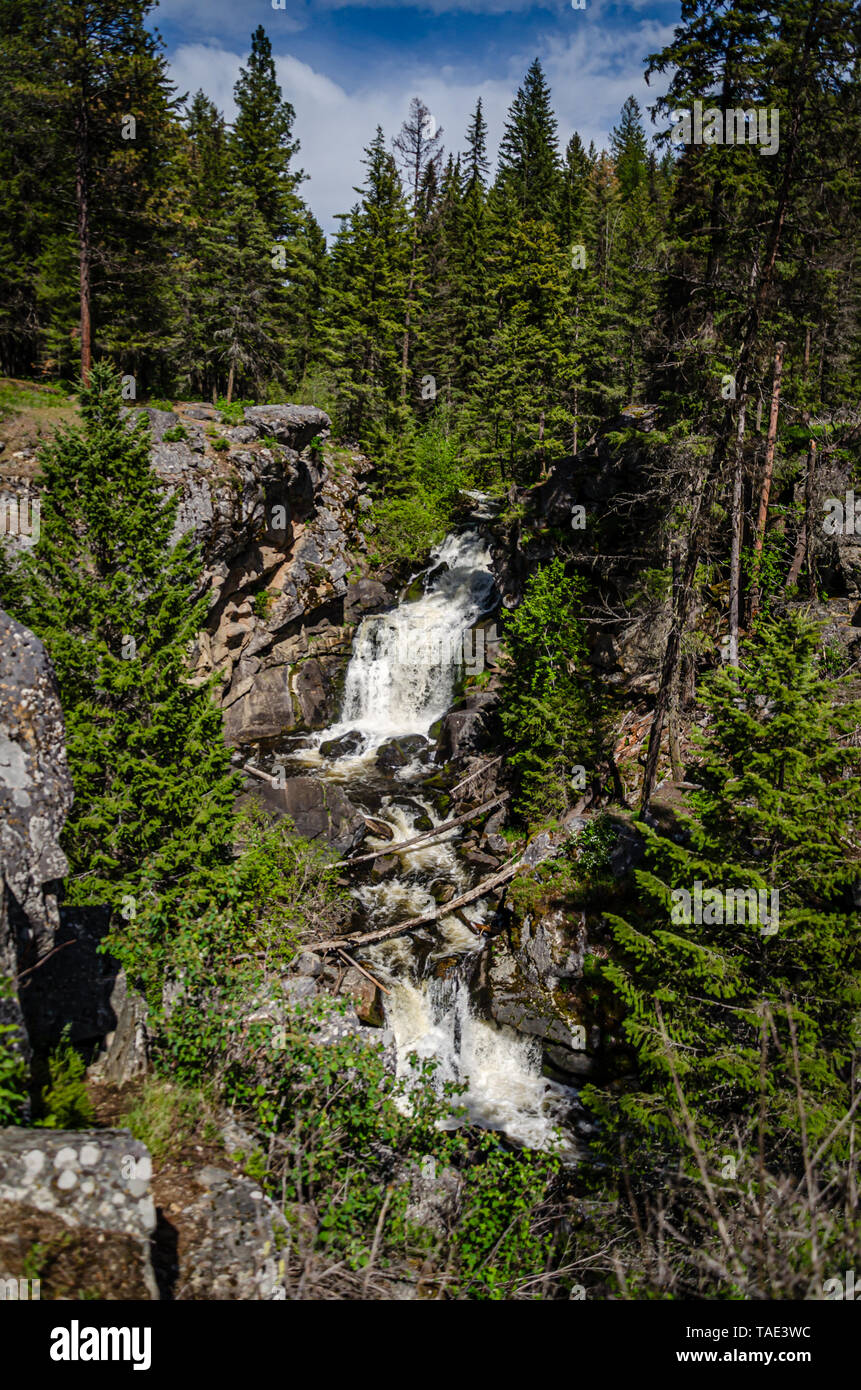 Crystal Falls In The Little Pend Oreille National Wildlife Refuge. - Stock Image