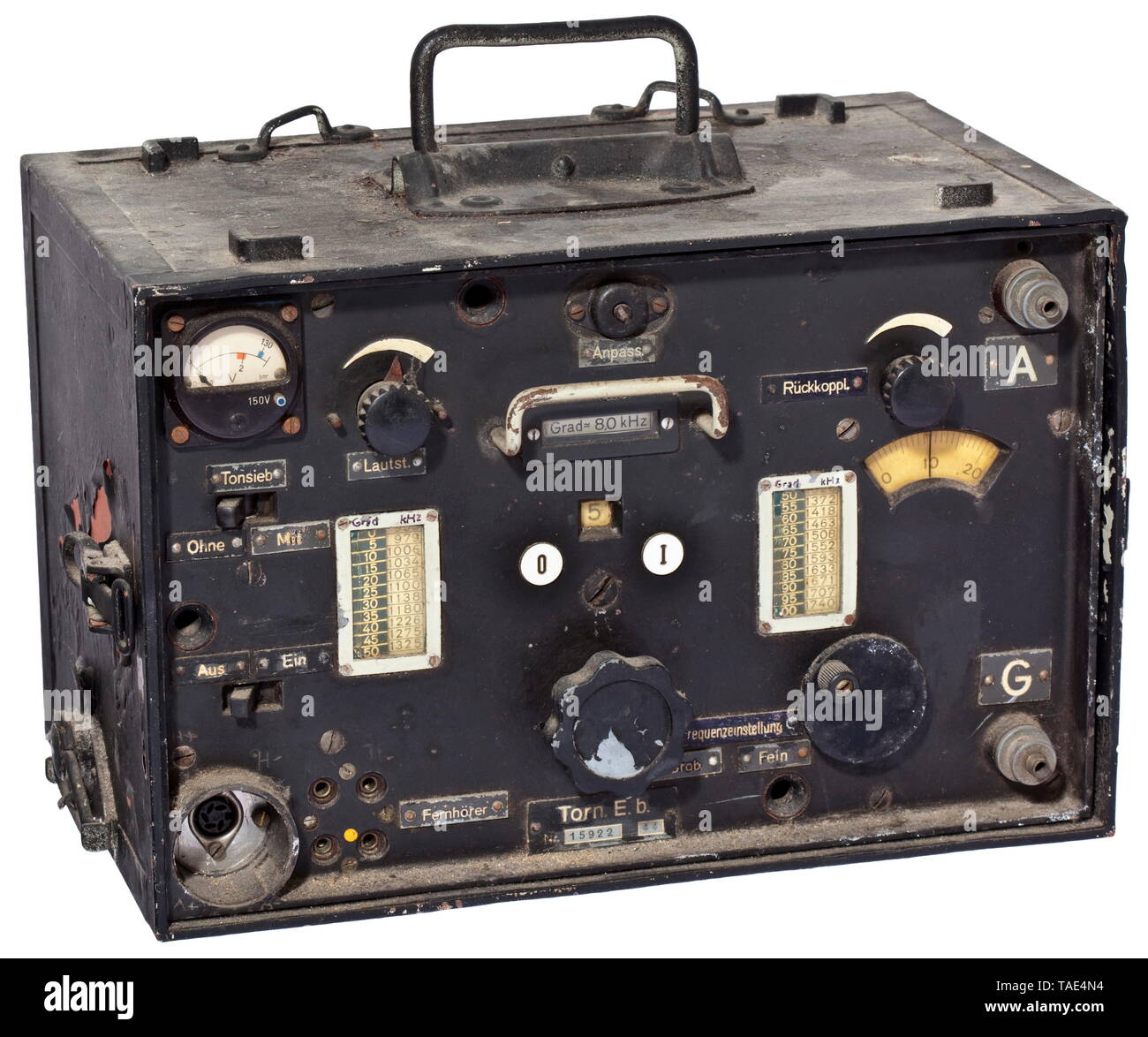 A receiver satchel Torn.E.b (Berta) universally deployable standard receiver for the Wehrmacht historic, historical, 20th century, Editorial-Use-Only - Stock Image