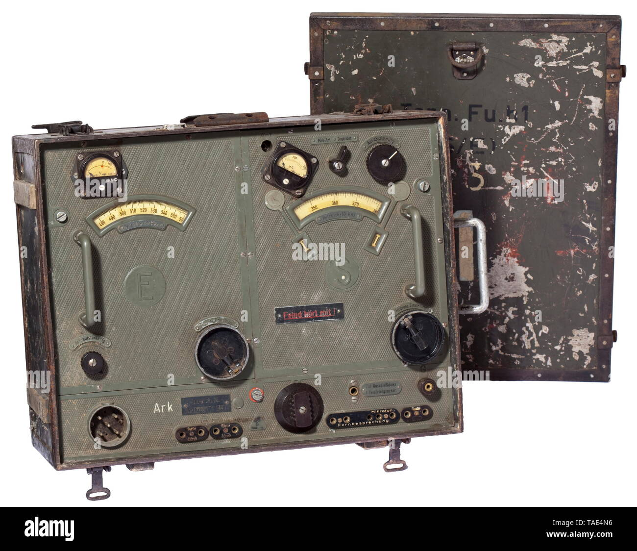 A radio equipment satchel Torn.Fu.b1 (S/E) universally deployable standard radio equipment for the Wehrmacht historic, historical, 20th century, Editorial-Use-Only - Stock Image