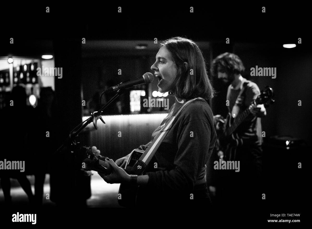 Denmark, Copenhagen - May 18, 2019. The Italian singer, songwriter and musician Any Other performs a live concert at VEGA in Copenhagen. (Photo credit: Gonzales Photo - Christian Hjorth). - Stock Image