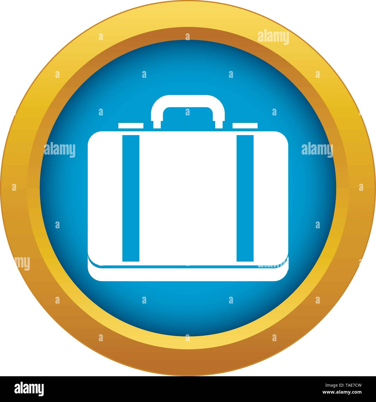 Suitcase icon blue vector isolated - Stock Image