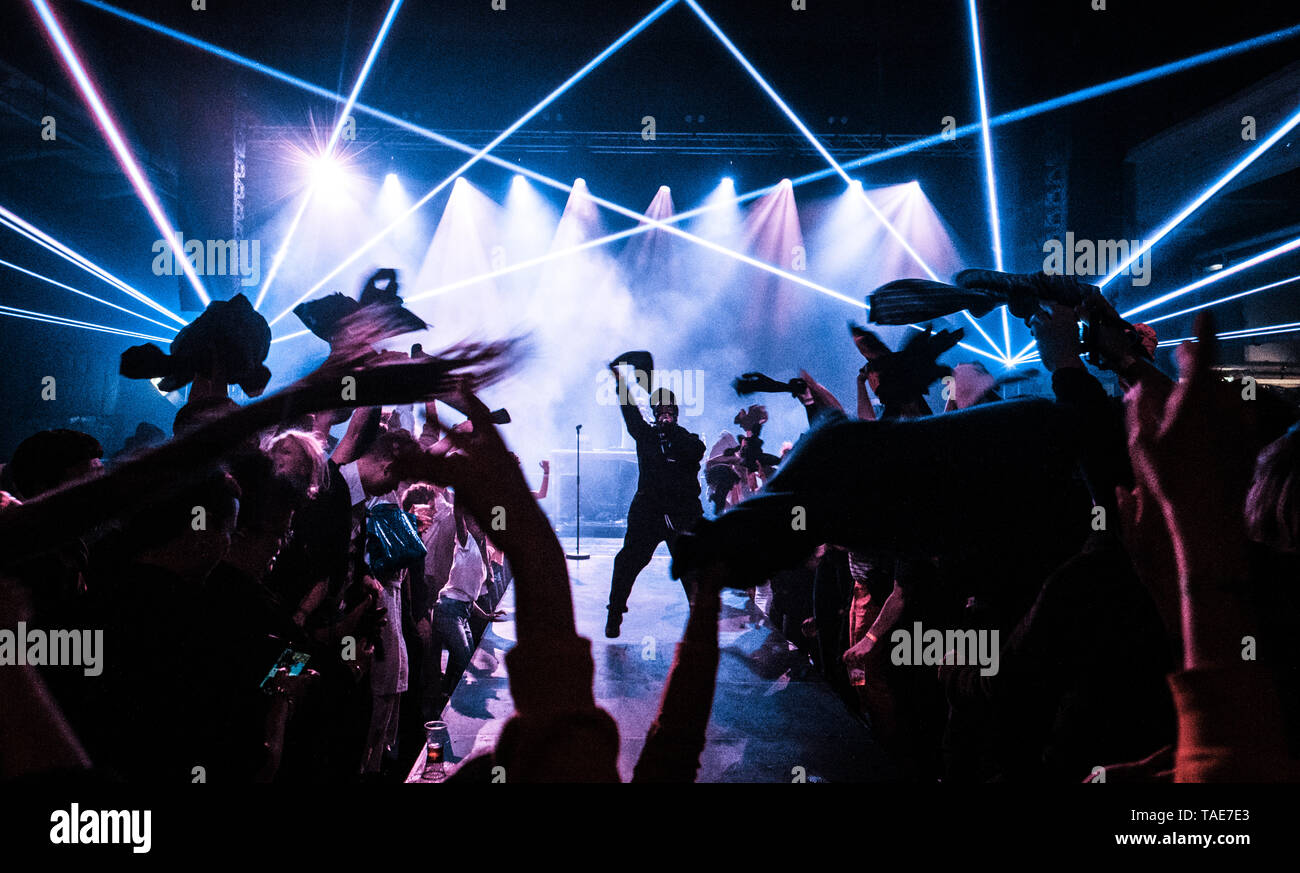 Denmark, Copenhagen - May 19, 2019. The American rapper and lyricist Leikeli47 performs a live concert during Click Festival 2019 in Elsinore. (Photo credit: Gonzales Photo - Flemming Bo Jensen). - Stock Image