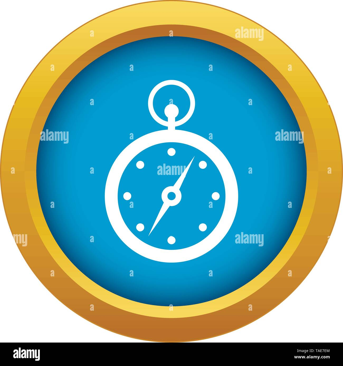 Compass icon blue vector isolated - Stock Image