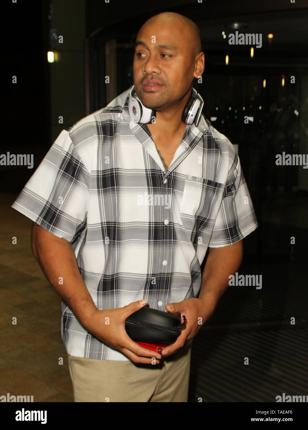 Liverpool,Uk Jonah Lomu spotted in the city credit Ian Fairbrother/Alamy Stock Photos - Stock Image