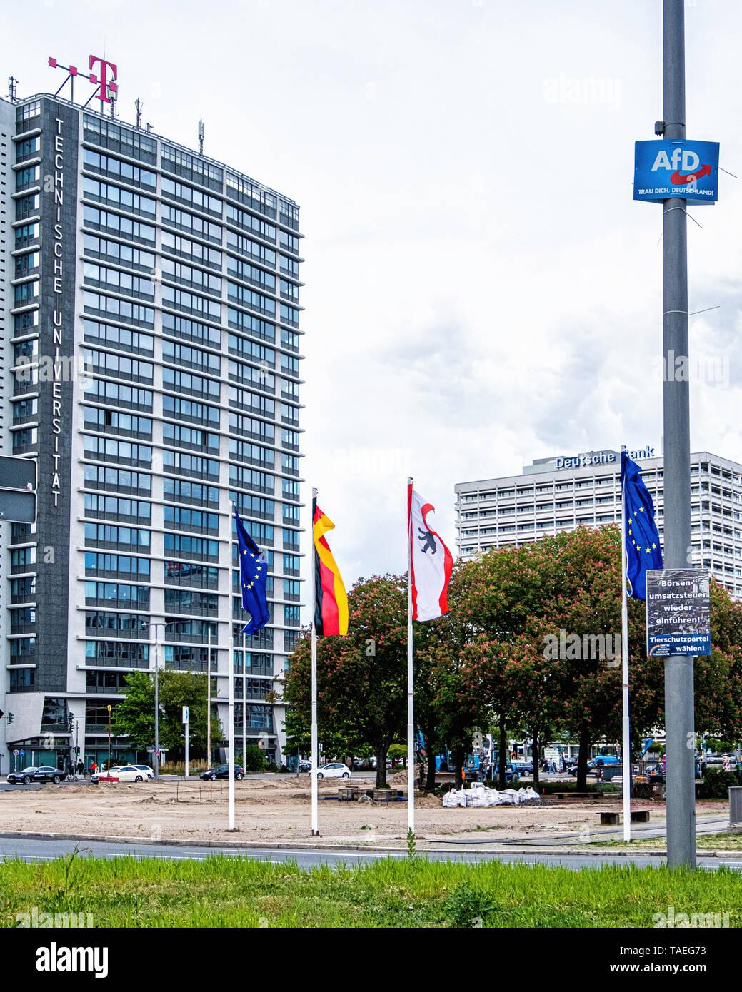Ernst-Reuter-Platz.Charlottenburg, BerlinThe square is named after Ernst Reuter, mayor of West Berlin from 1948-1953 - Stock Image