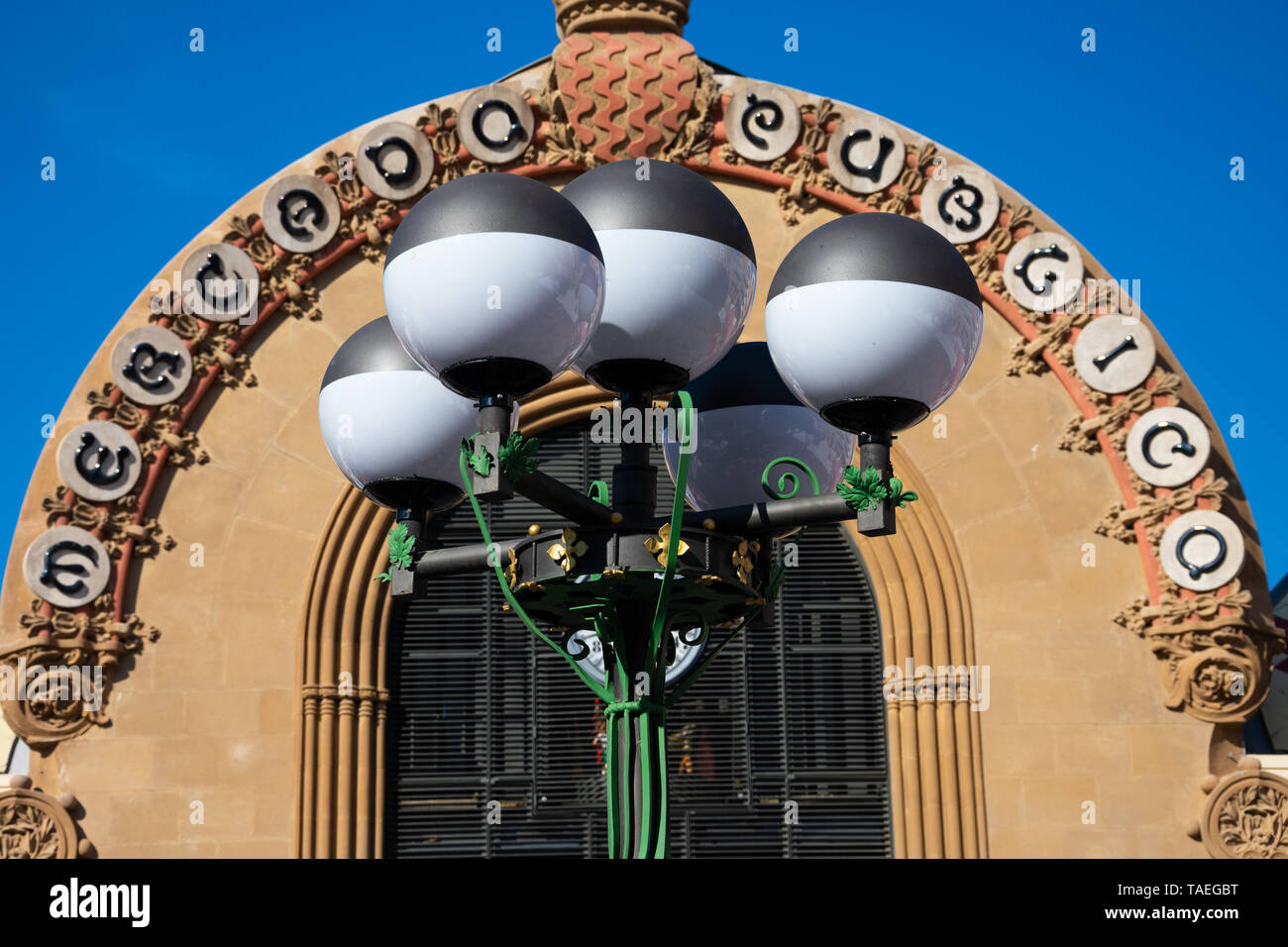 Tarragona, Spain. February 8, 2019. Public Market of Tarragona (Mercado Publico) - Stock Image