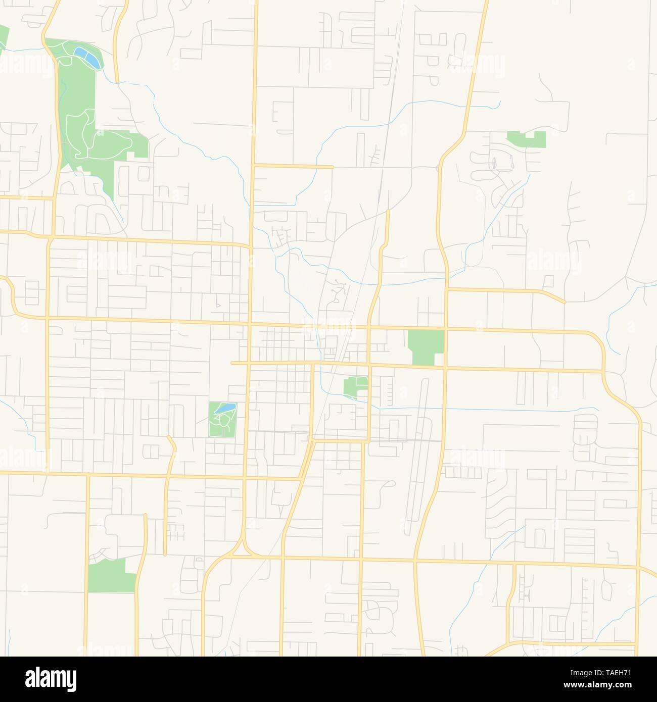 Empty vector map of Springdale, Arkansas, USA, printable ...