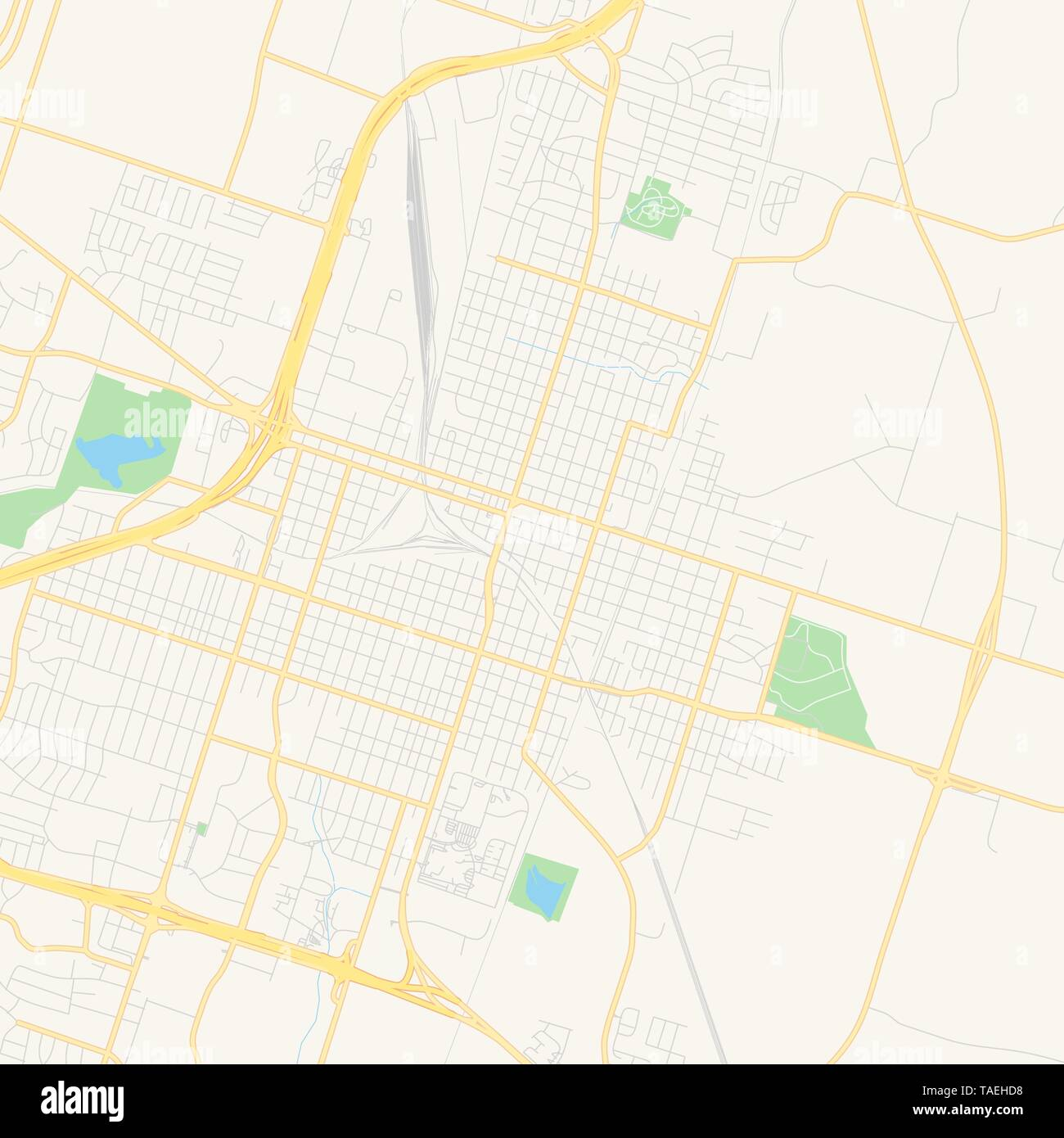 Empty Vector Map Of Temple Texas Usa Printable Road Map Created