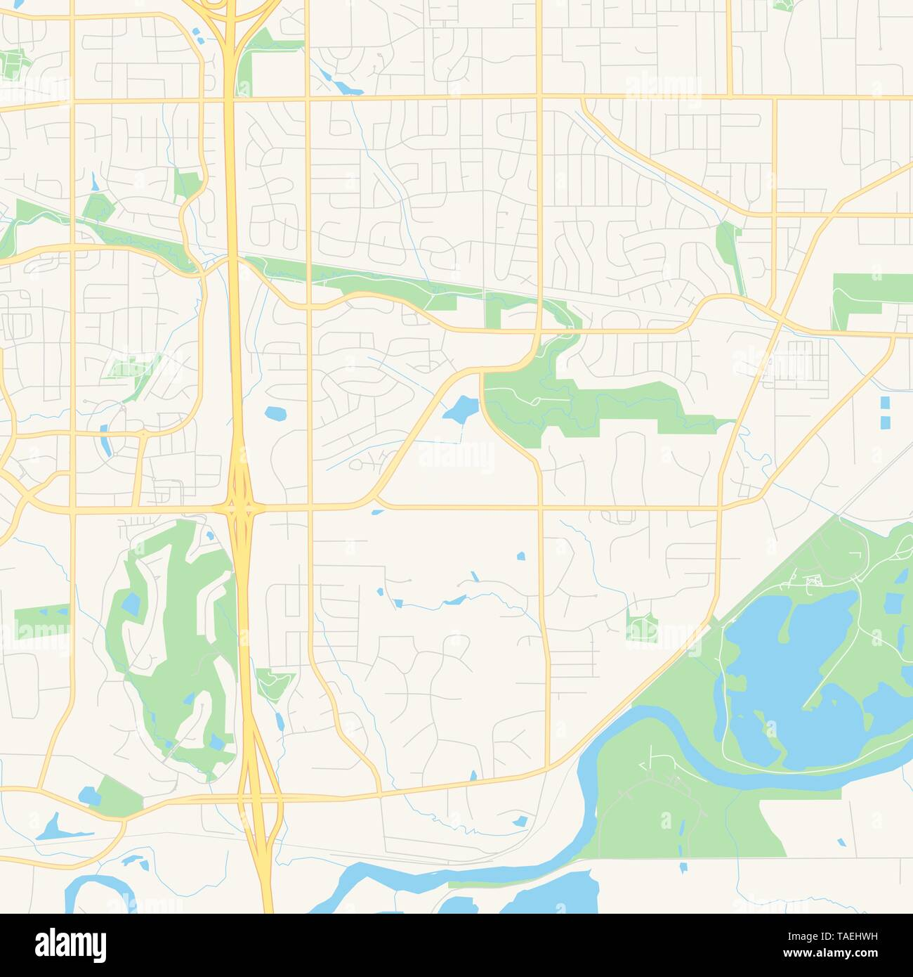 image relating to Printable Map of Iowa referred to as Vacant vector map of West Des Moines, Iowa, United states, printable