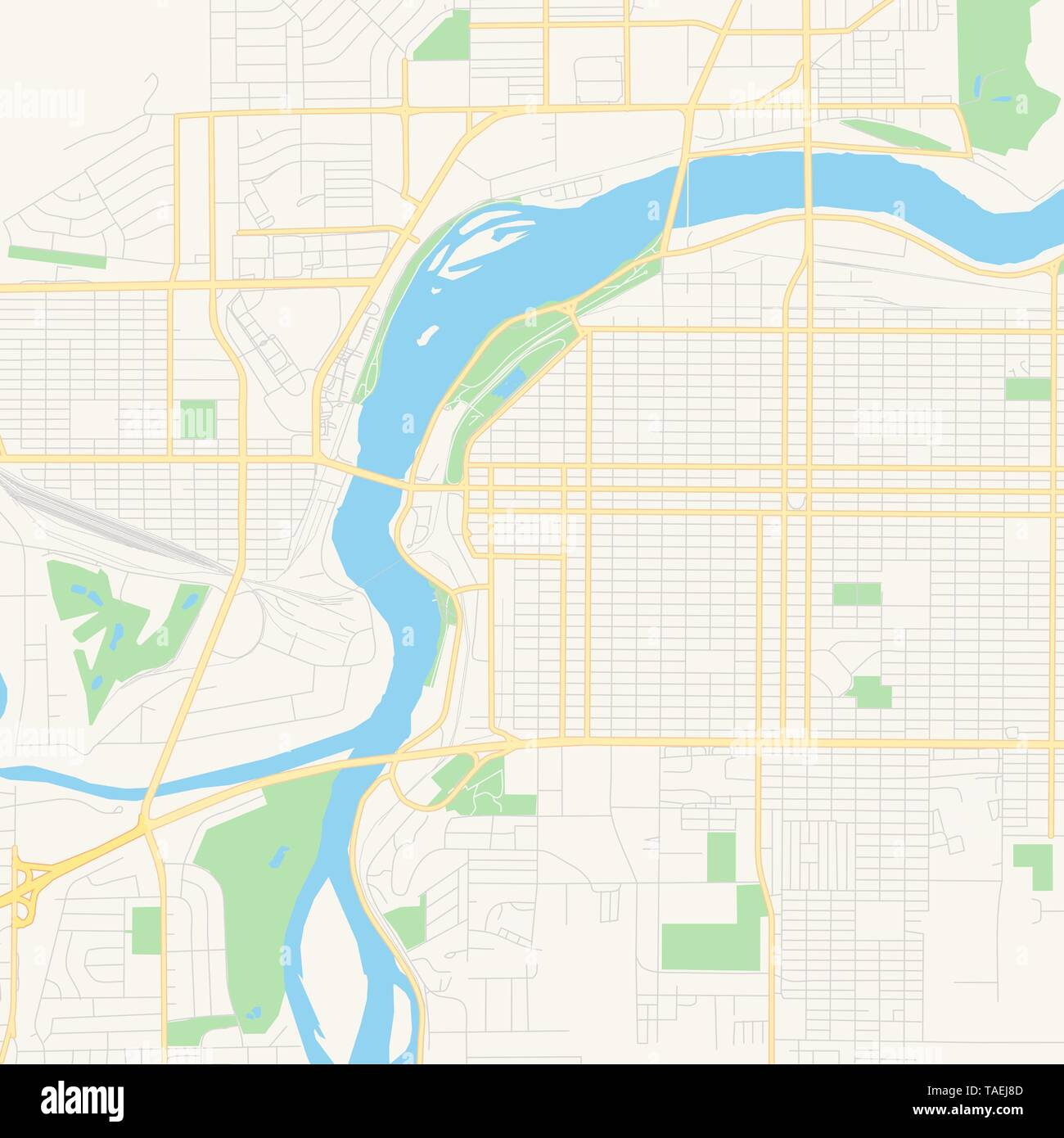 photograph regarding Printable Map of Montana named Vacant vector map of Superior Falls, Montana, United states of america, printable