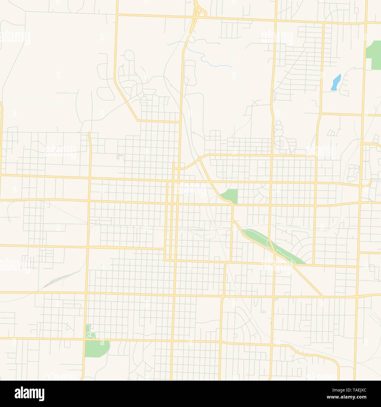 Empty vector map of Joplin, Missouri, United States of America ...