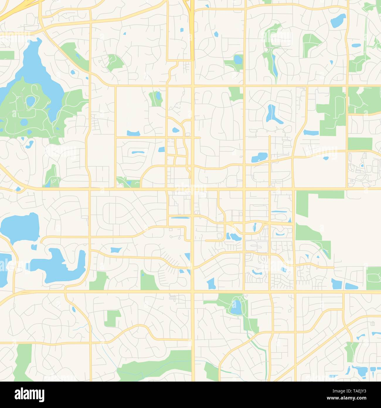 Empty vector map of Apple Valley, Minnesota, United States ...