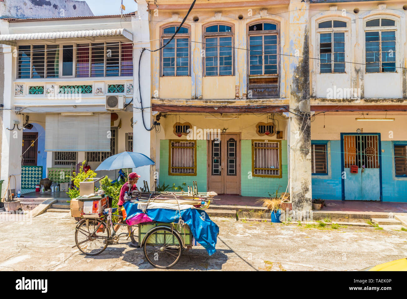 A streetv scene in George Town Malaysia Stock Photo