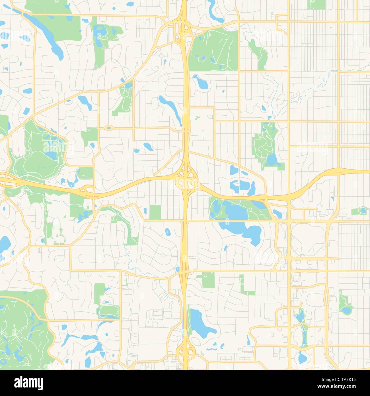 Empty vector map of Edina, Minnesota, United States of ...