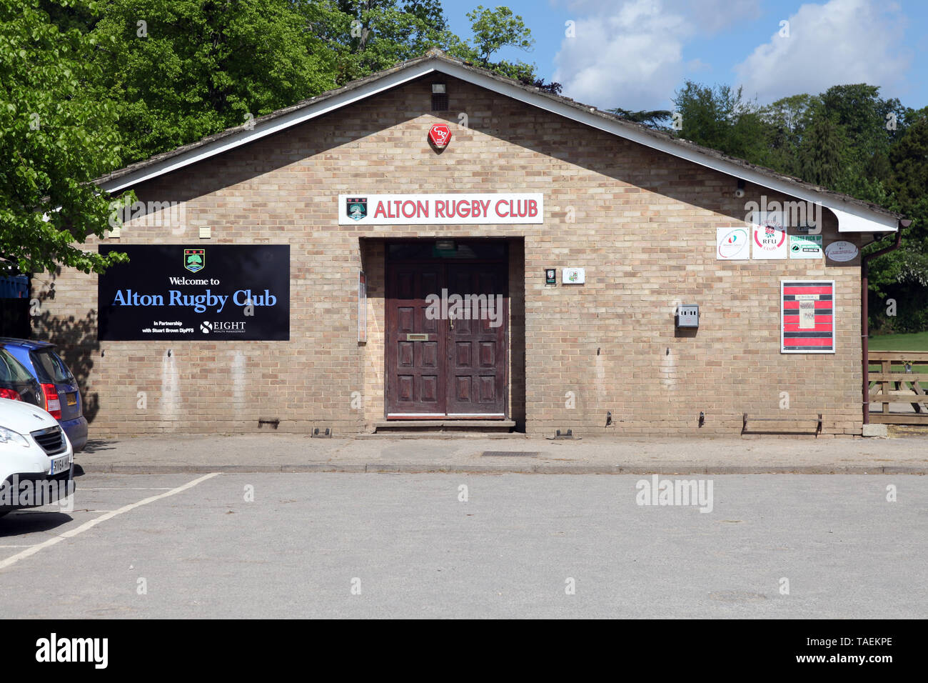 Alton, Hampshire - Alton Rugby Club, clubhouse in daytime, 2019 - Stock Image
