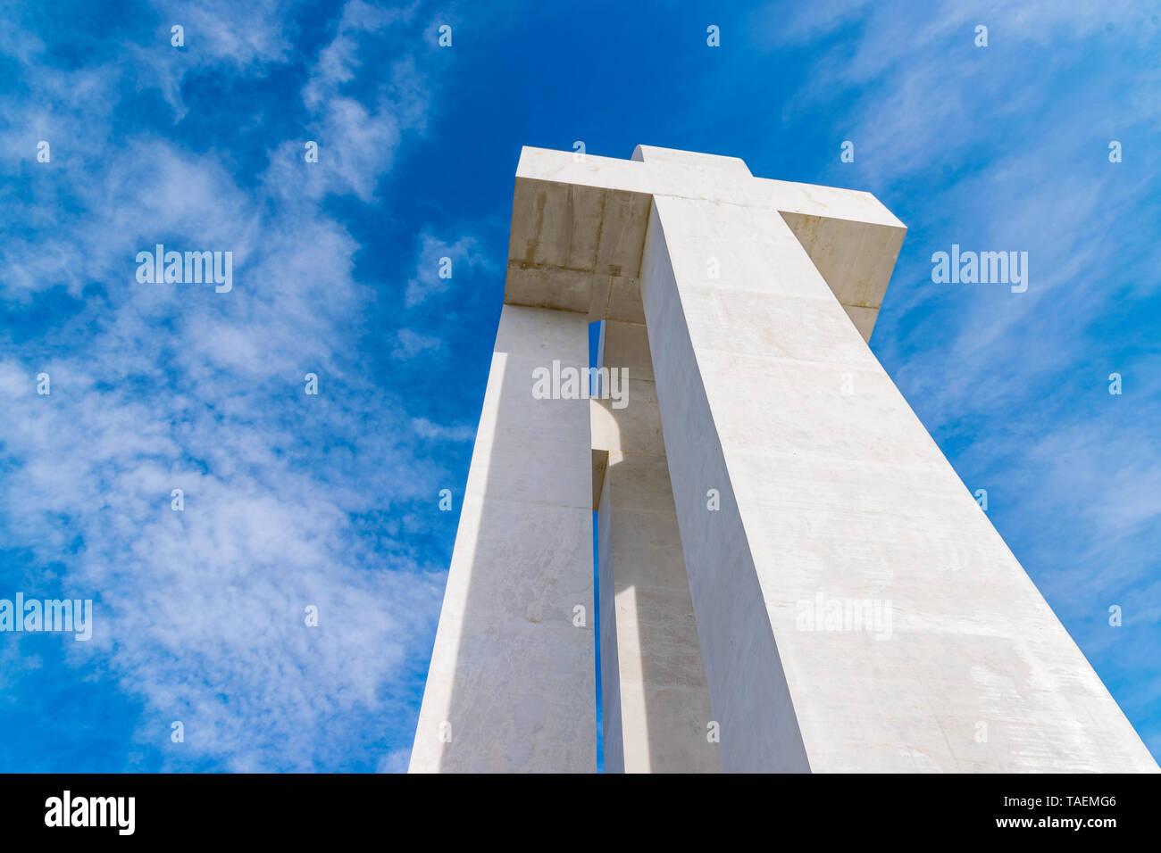 ALBA IULIA, ROMANIA - February 28, 2019: Monument of the Great Union in Alba Iulia, Romania. Stock Photo