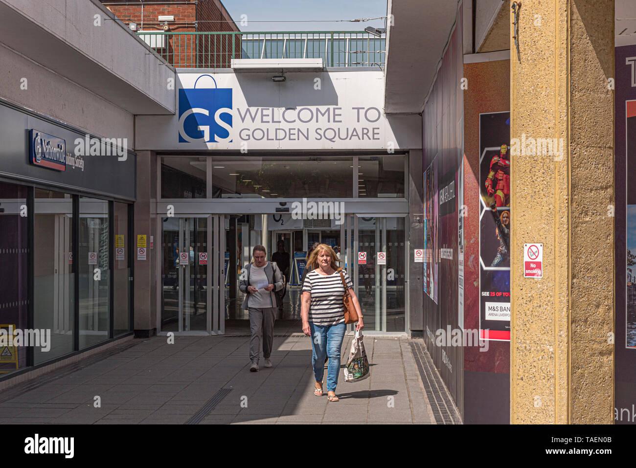 Warrington town centre. Golden Square shopping centre. - Stock Image