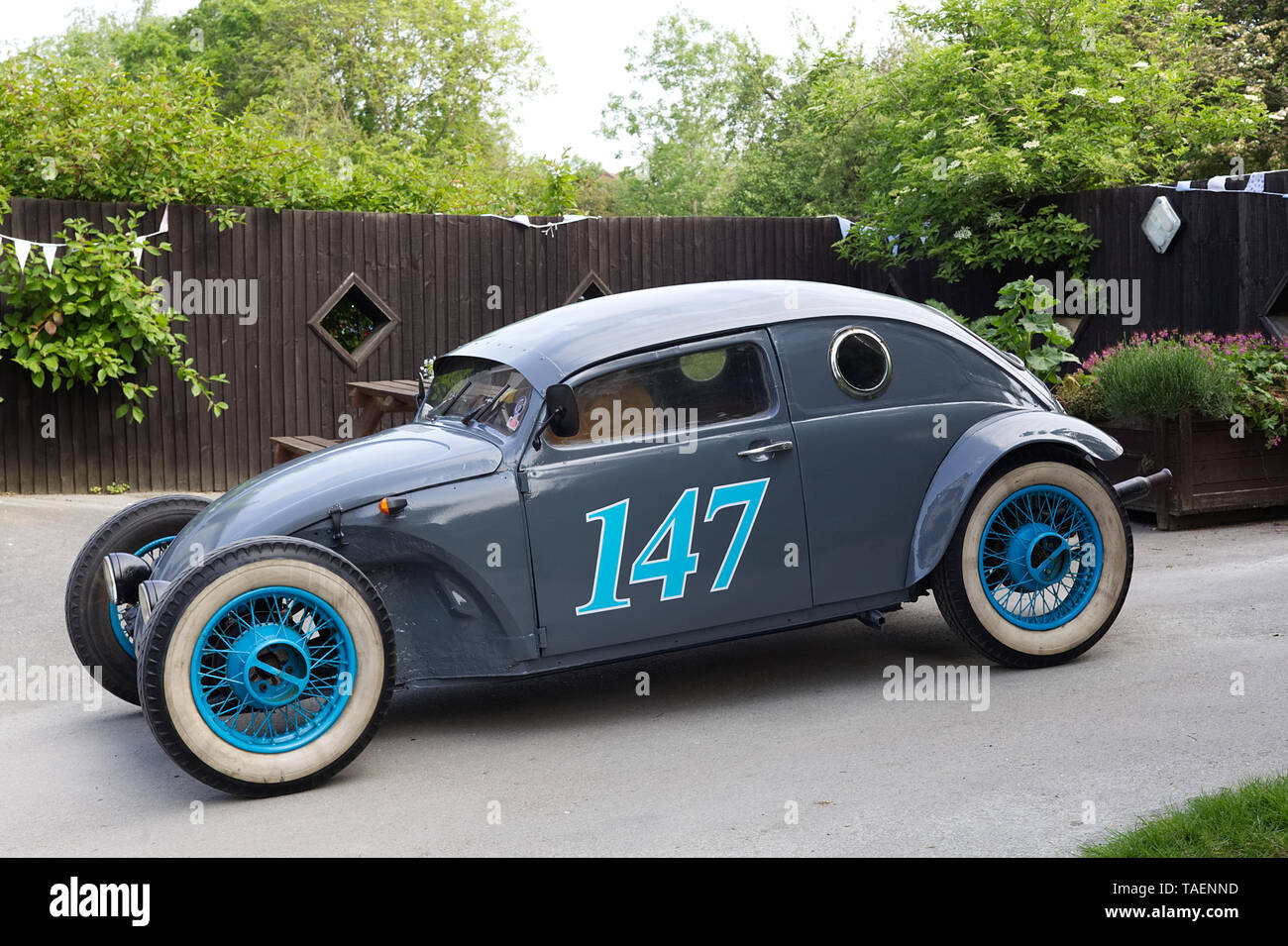Beautifully finished Hot Rod Beetle at Avoncroft Air-cooled VW show - Stock Image