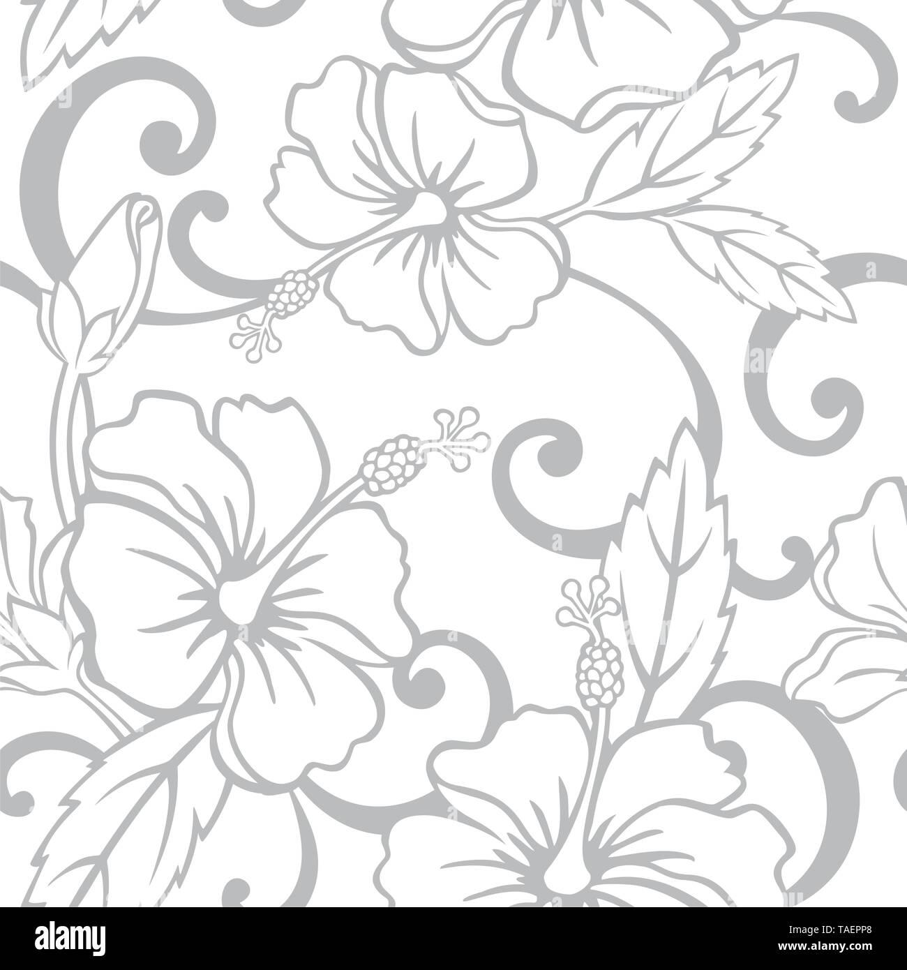 Seamless Hawaiian Wedding Pattern - Vector - Stock Vector