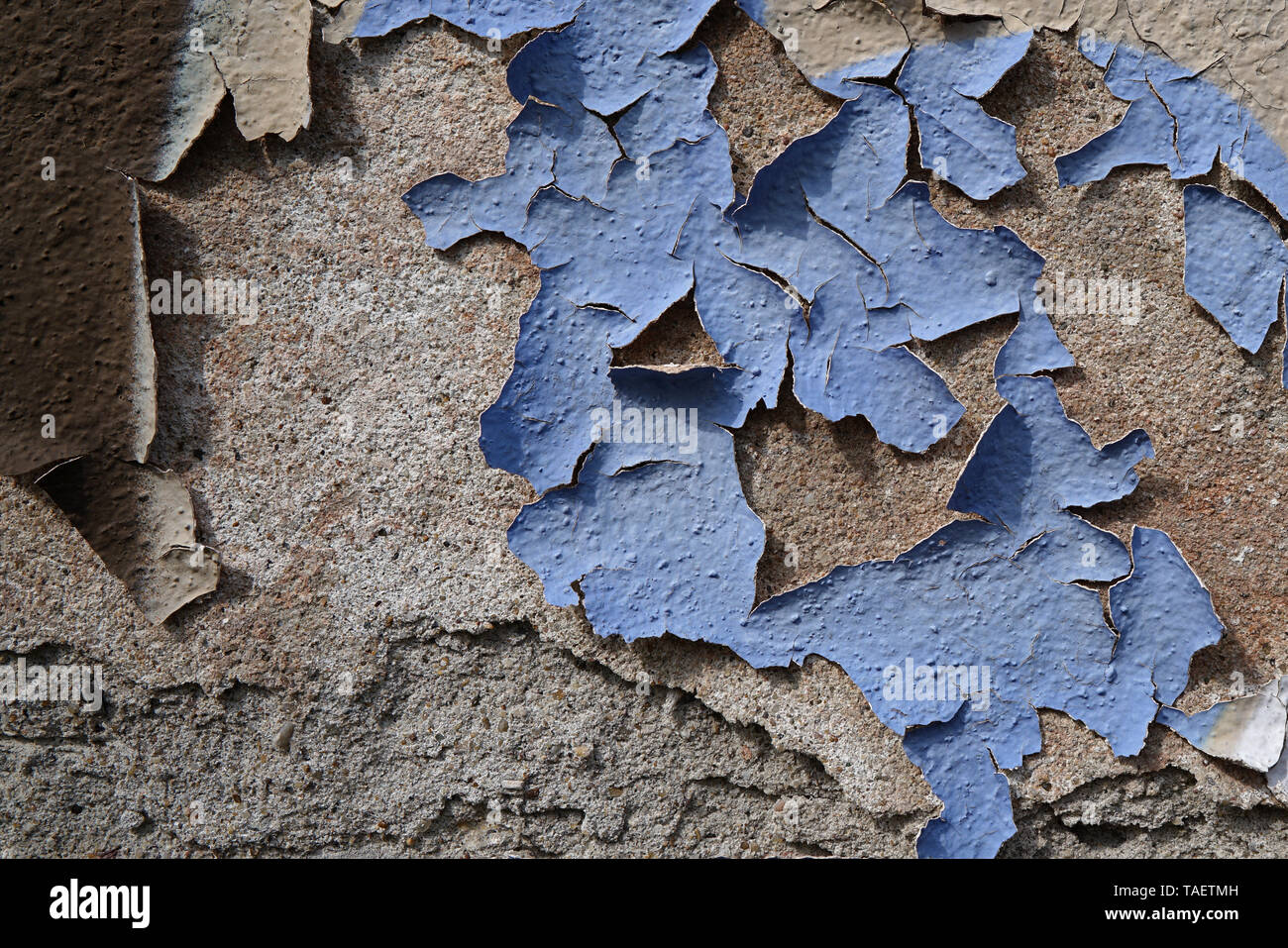 Facade of a house with peeling paint - Stock Image