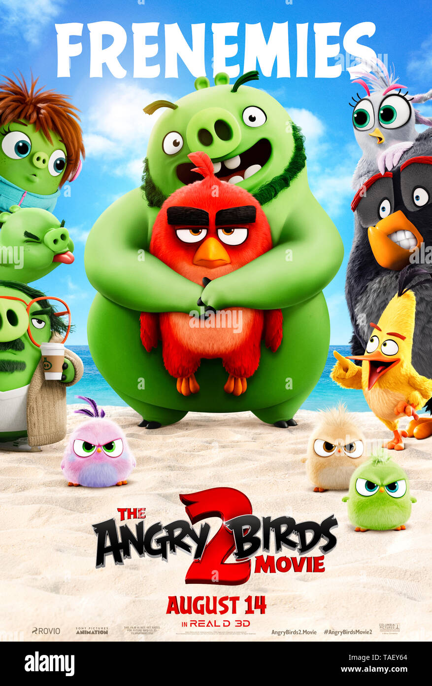 The Angry Birds Movie 2 (2019) directed by  Thurop Van Orman and starring  Peter Dinklage, Bill Hader and Awkwafina. - Stock Image