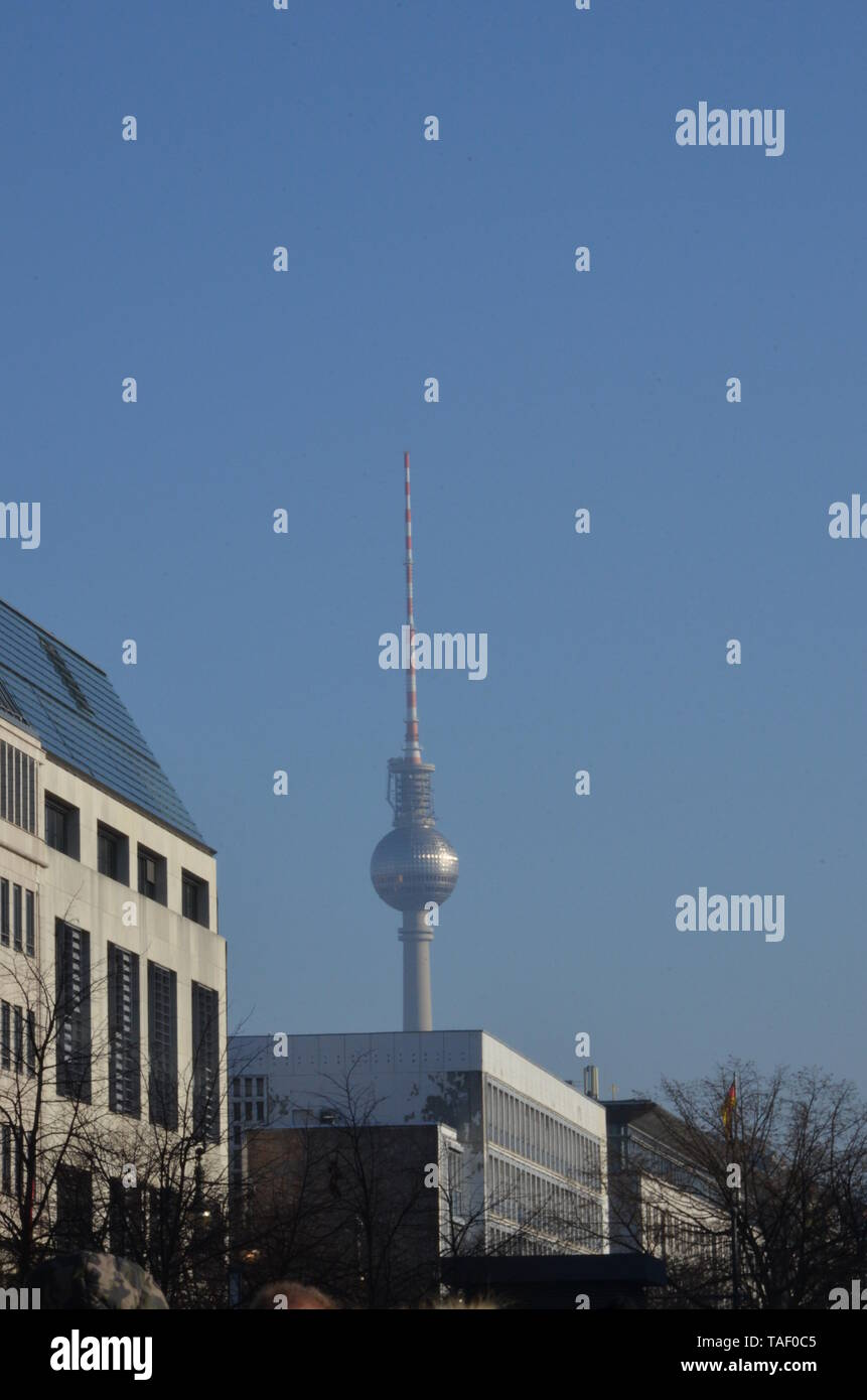 Television Tower in Berlin - Stock Image
