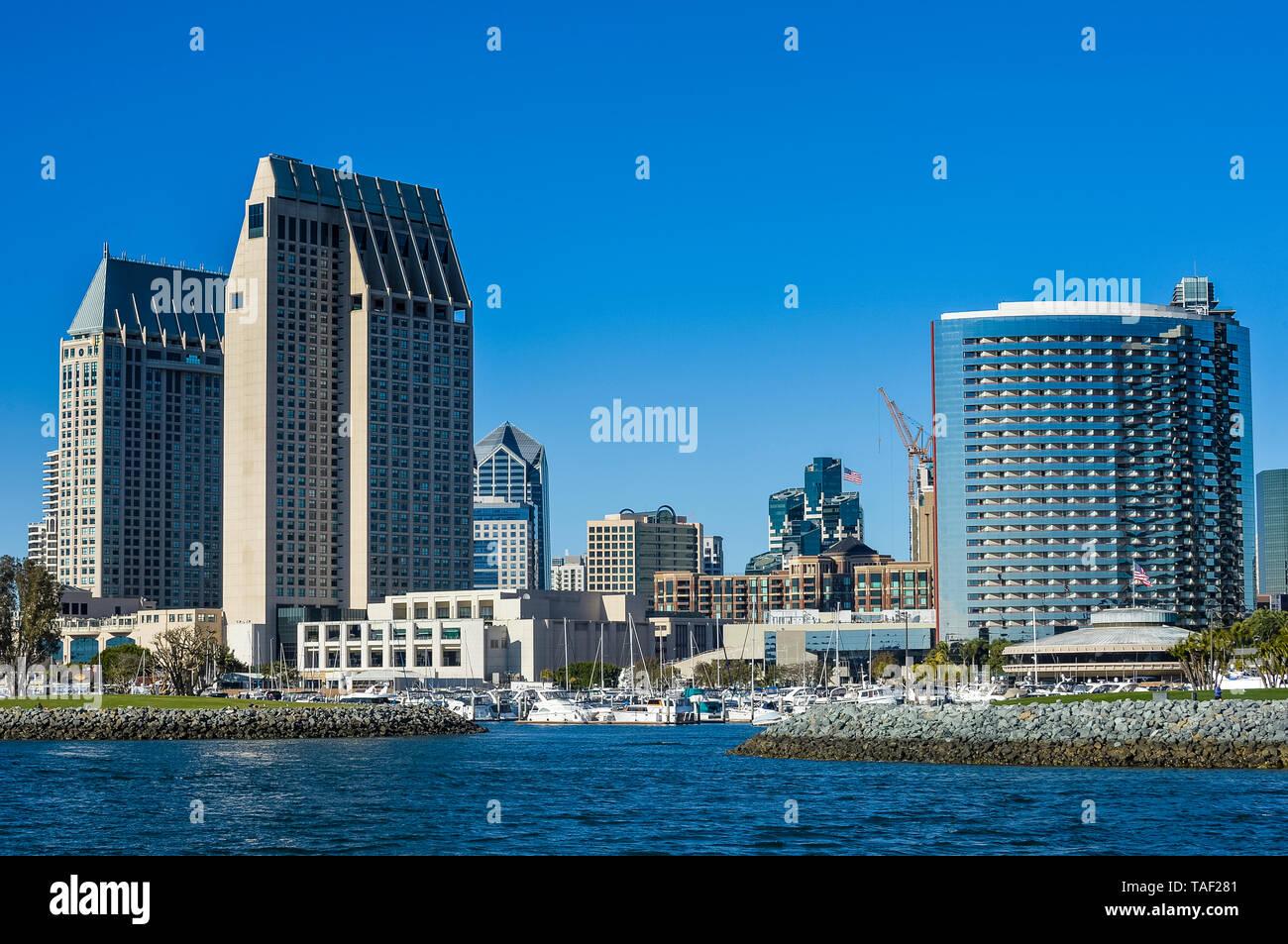 USA, California, San Diego, Skyline - Stock Image