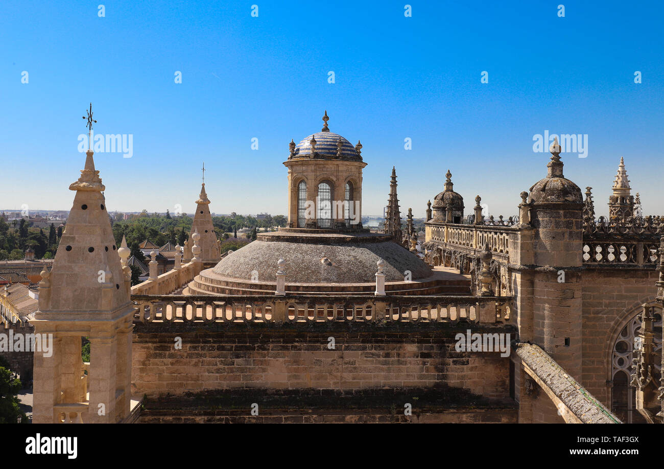 The church of the Annunciation in Seville, Spain. This church is one of the most interesting buildings of Renaissance style in Sevilla. - Stock Image