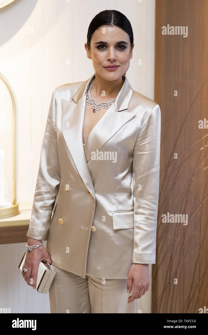 Celebrities attend the Chaumet new boutique inauguration  Featuring: Adriana Ugarte Where: Madrid, Spain When: 23 Apr 2019 Credit: Oscar Gonzalez/WENN.com - Stock Image
