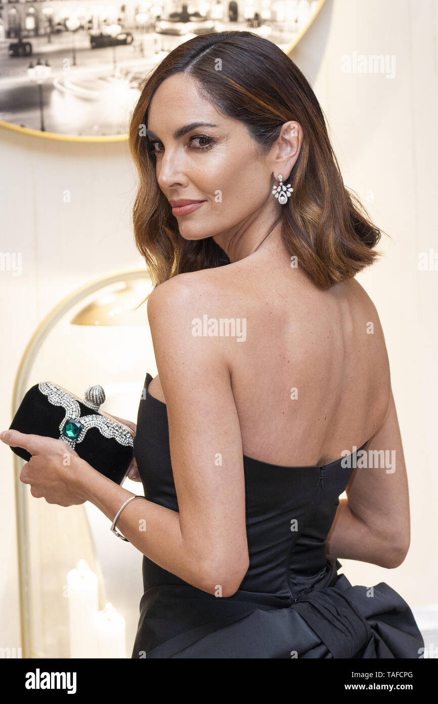 Celebrities attend the Chaumet new boutique inauguration  Featuring: Eugenia Silva Where: Madrid, Spain When: 23 Apr 2019 Credit: Oscar Gonzalez/WENN.com - Stock Image
