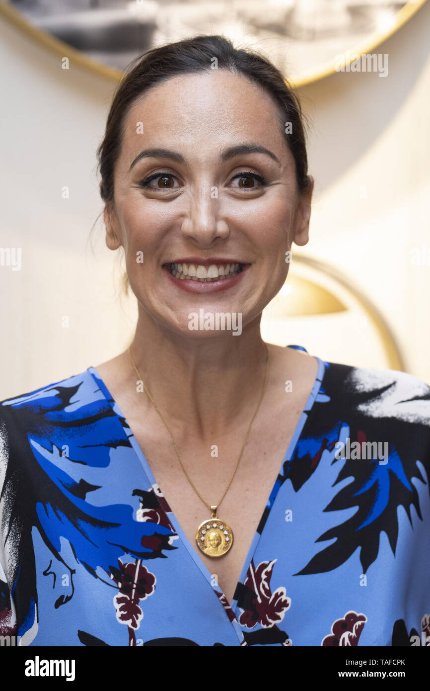 Celebrities attend the Chaumet new boutique inauguration  Featuring: Tamara Falco Where: Madrid, Spain When: 23 Apr 2019 Credit: Oscar Gonzalez/WENN.com - Stock Image