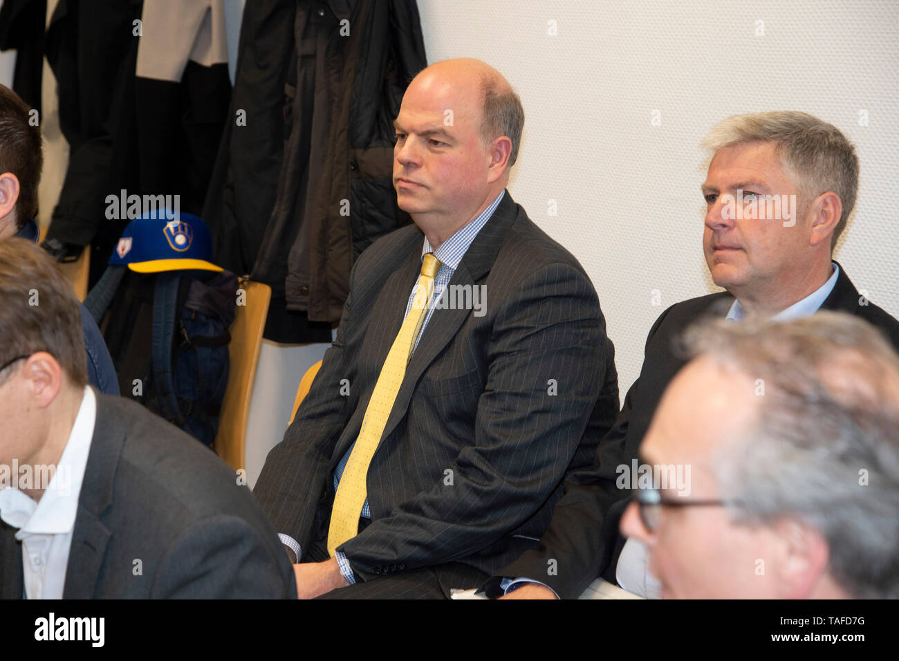 The invited as a witness Peter KOHL, son of Helmut Kohl, sitting room, proceedings by Maike Kohl-Richter versus author Heribert Schwan and the Spiegel Verlag on the book VERMAECHTNIS, whether more passages should be banned and the amount of profits achieved on 22.05.2019 in the district court Koeln,   usage worldwide - Stock Image