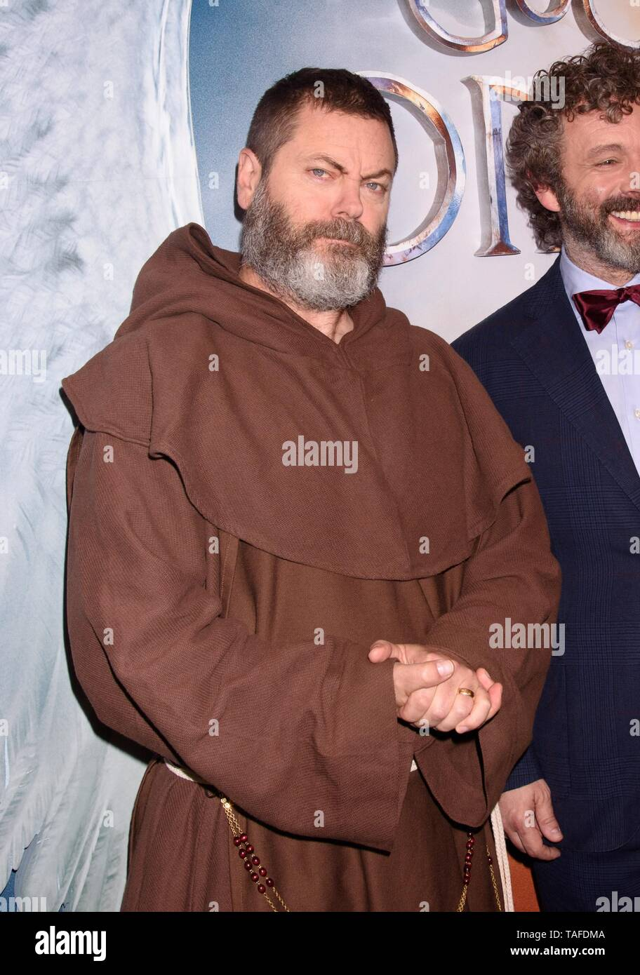 New York, NY, USA. 23rd May, 2019. Nick Offerman at arrivals for Screening of Amazon Prime Original GOOD OMENS, Whitby Hotel, New York, NY May 23, 2019. Credit: RCF/Everett Collection/Alamy Live News - Stock Image