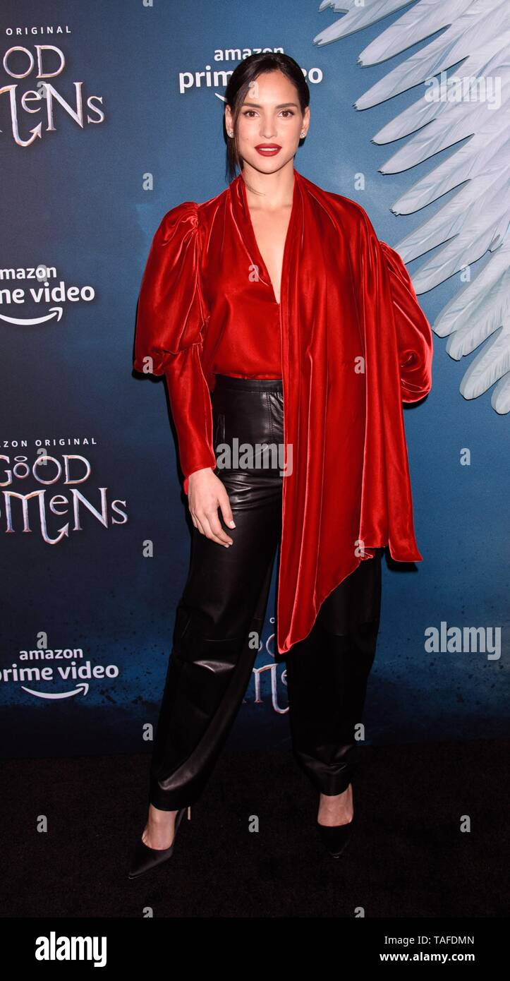 New York, NY, USA. 23rd May, 2019. Adria Arjona at arrivals for Screening of Amazon Prime Original GOOD OMENS, Whitby Hotel, New York, NY May 23, 2019. Credit: RCF/Everett Collection/Alamy Live News - Stock Image
