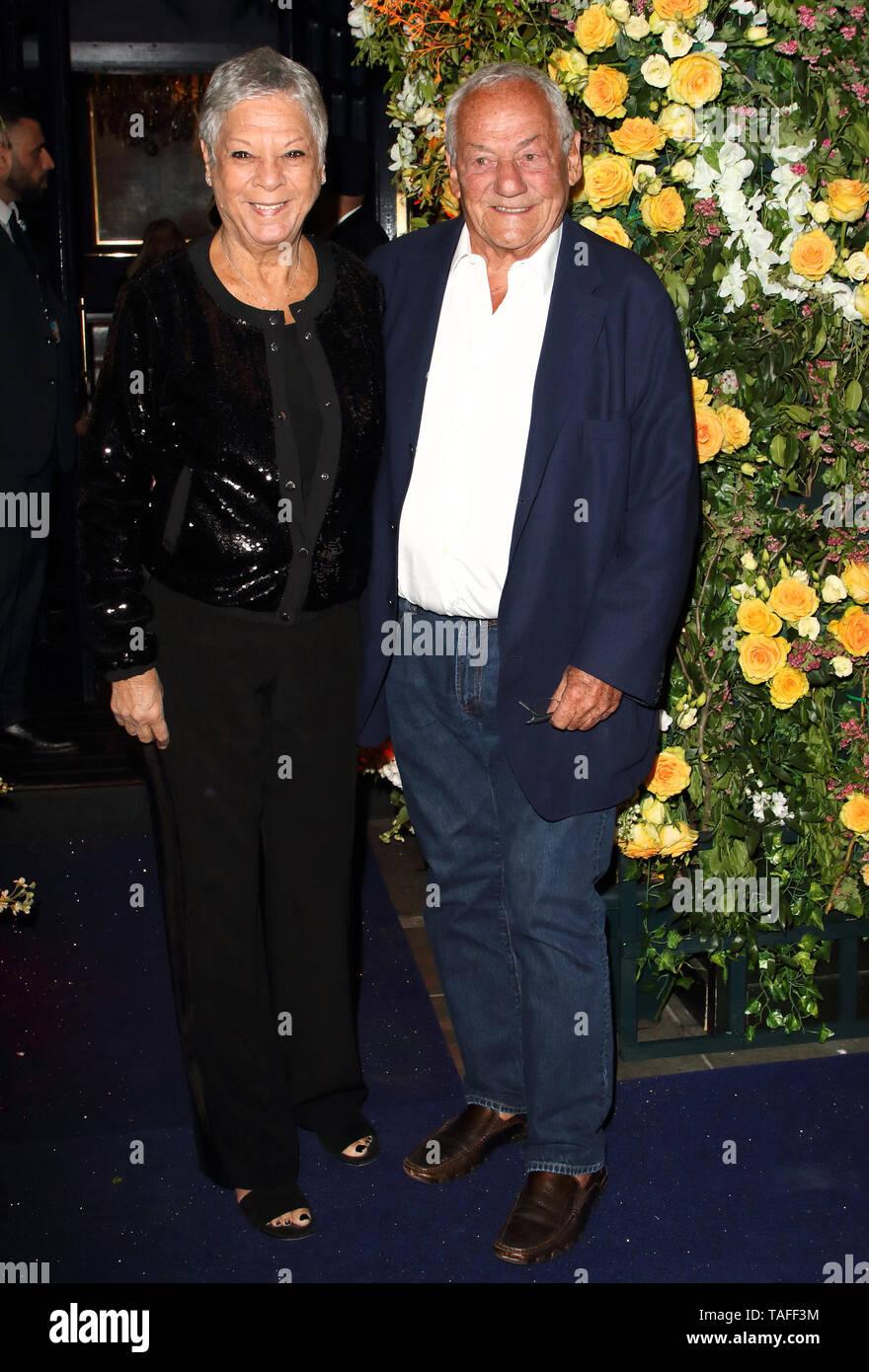 London, UK. Jan and Johnny Gold at Tramp Nightclub 50th Anniversary Party, Jermyn Street, London on May 23rd 2019 Ref: LMK73-J4944-240519 Keith Mayhew/Landmark Media WWW.LMKMEDIA.COM Stock Photo