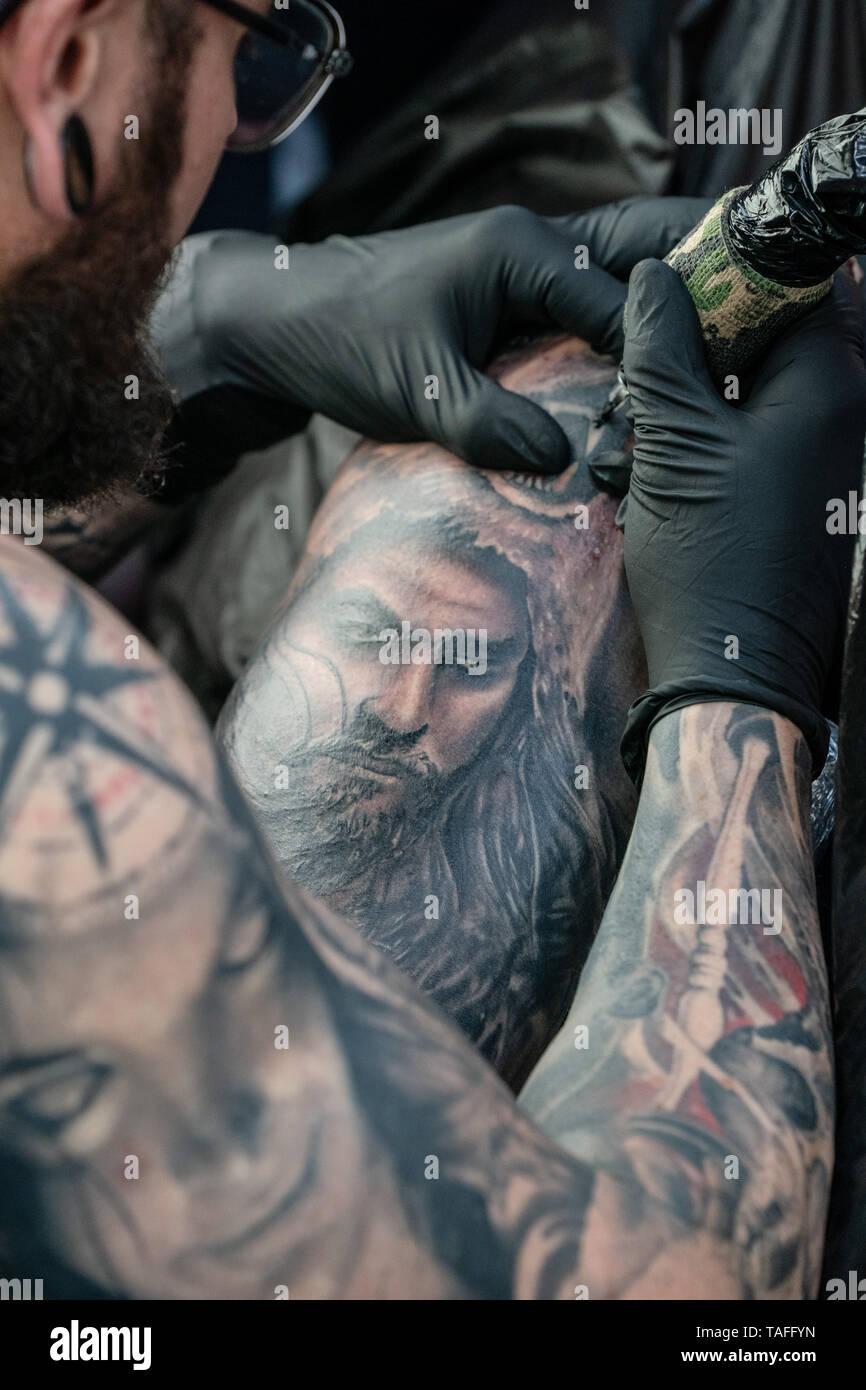 Dortmund Germany 24th May 2019 Torben Has Chris Tattoo A Big
