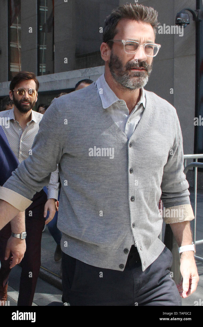 New York, NY, USA. 24th May, 2019. John Hamm seen at NBC's Today Show promoting the Amazon Prime series Good Omens on May 24, 2019 in New York City. Credit: Rw/Media Punch/Alamy Live News - Stock Image