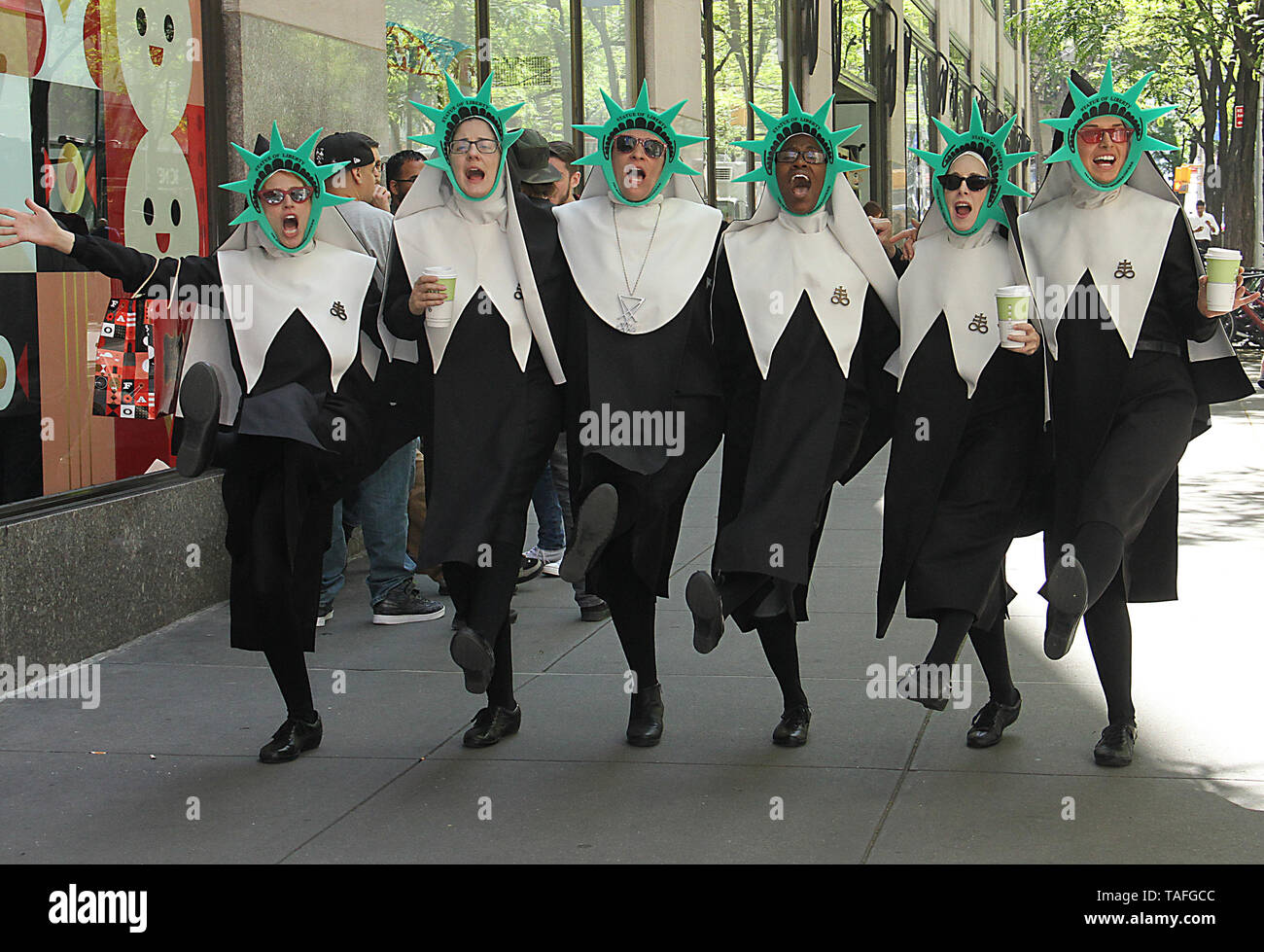 New York, NY, USA. 24th May, 2019. Evil Nuns seen at NBC's Today Show promoting the Amazon Prime series Good Omens on May 24, 2019 in New York City. Credit: Rw/Media Punch/Alamy Live News - Stock Image