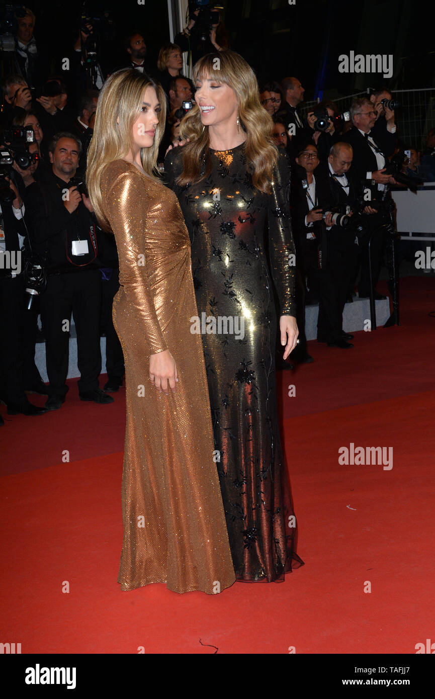 Cannes, France. 24th May, 2019. CANNES, FRANCE. May 24, 2019: Sistine Rose Stallone & Jennifer Flavin at the Hommage to Sylvester Stallone and screening of 'Rambo: First Blood' at the Festival de Cannes. Picture Credit: Paul Smith/Alamy Live News - Stock Image