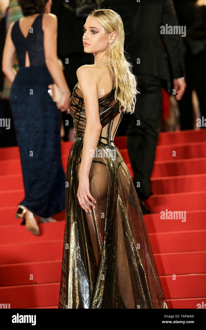Cannes, France. 24th May, 2019. CANNES - MAY 24: Meredith Mickelson arrives to the premiere of ' HOMMAGE A SYLVESTER STALLONE - RAMBO: FIRST BLOOD ' during the 2019 Cannes Film Festival on May 24, 2019 at Palais des Festivals in Cannes, France. (Photo by Lyvans Boolaky/imageSPACE) Credit: Imagespace/Alamy Live News - Stock Image