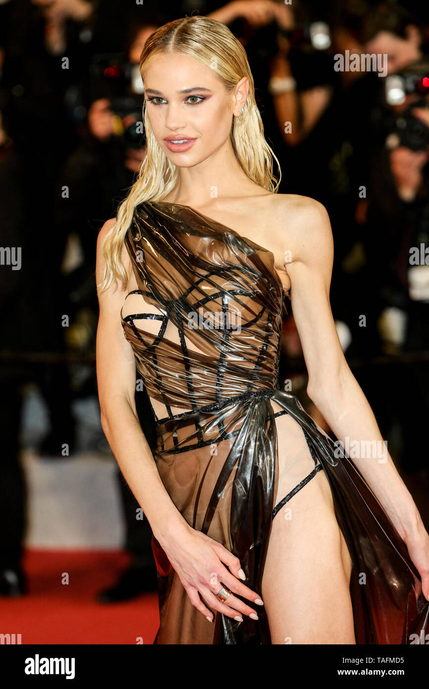 Cannes. 24th May, 2019. Meredith Mickelson arrives to the premiere of ' HOMMAGE A SYLVESTER STALLONE - RAMBO: FIRST BLOOD ' during the 2019 Cannes Film Festival on May 24, 2019 at Palais des Festivals in Cannes, France. ( Credit: Lyvans Boolaky/Image Space/Media Punch)/Alamy Live News - Stock Image