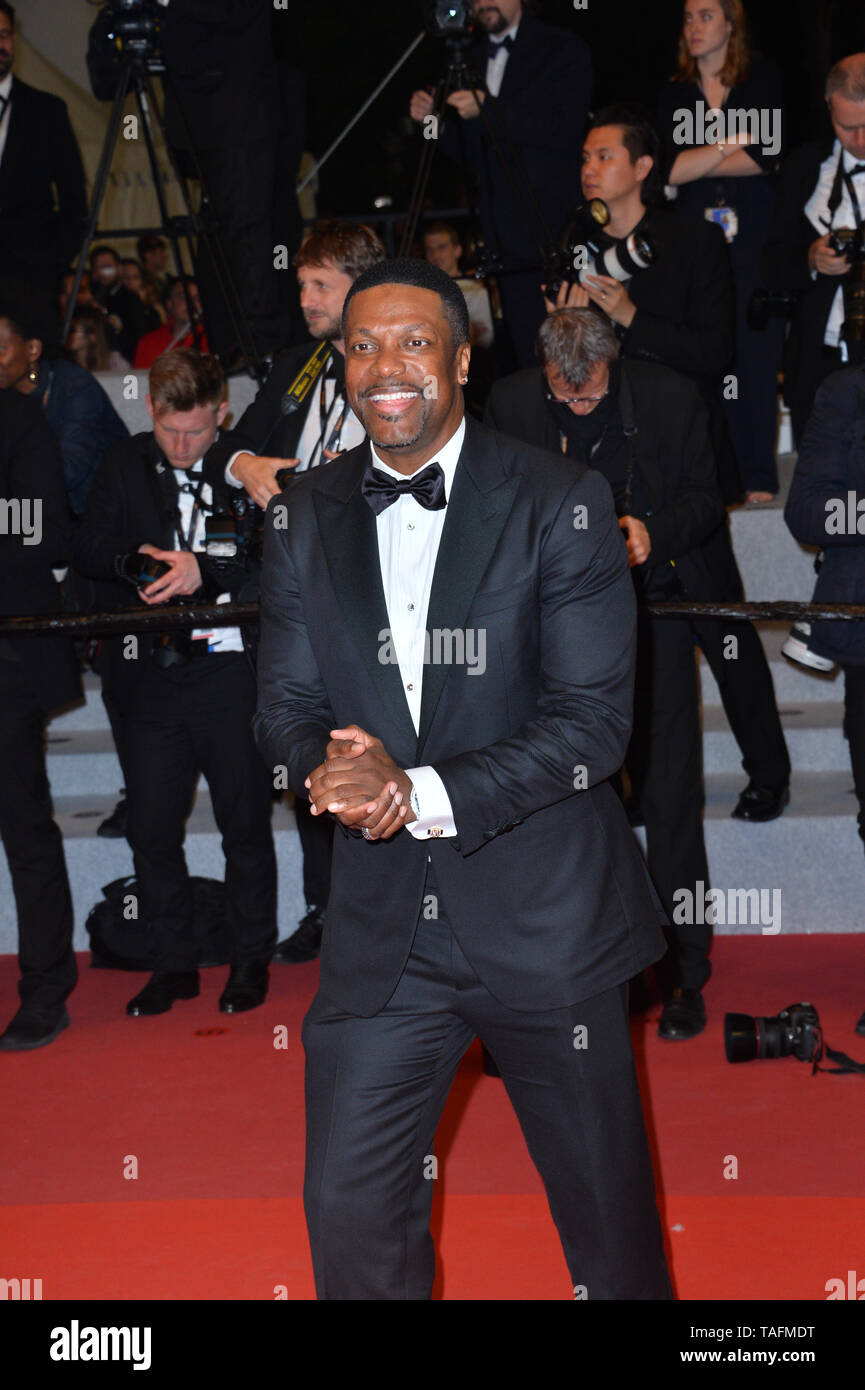 Cannes, France. 24th May, 2019. CANNES, FRANCE. May 24, 2019: Chris Tucker at the Hommage to Sylvester Stallone and screening of 'Rambo: First Blood' at the Festival de Cannes. Picture Credit: Paul Smith/Alamy Live News - Stock Image