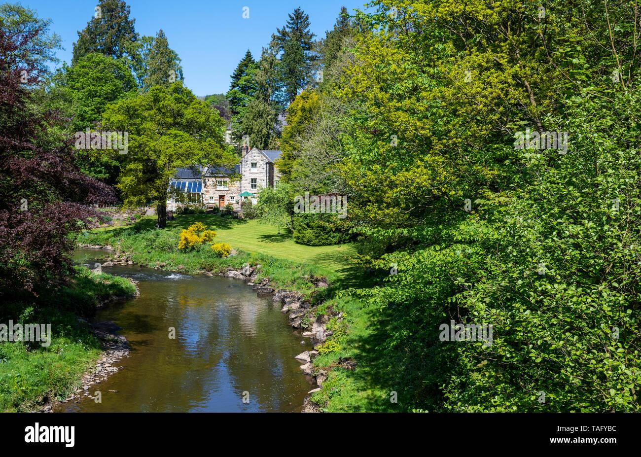 The River Esk from Egton Bridge, North York Moors, Yorkshire, UK - Stock Image