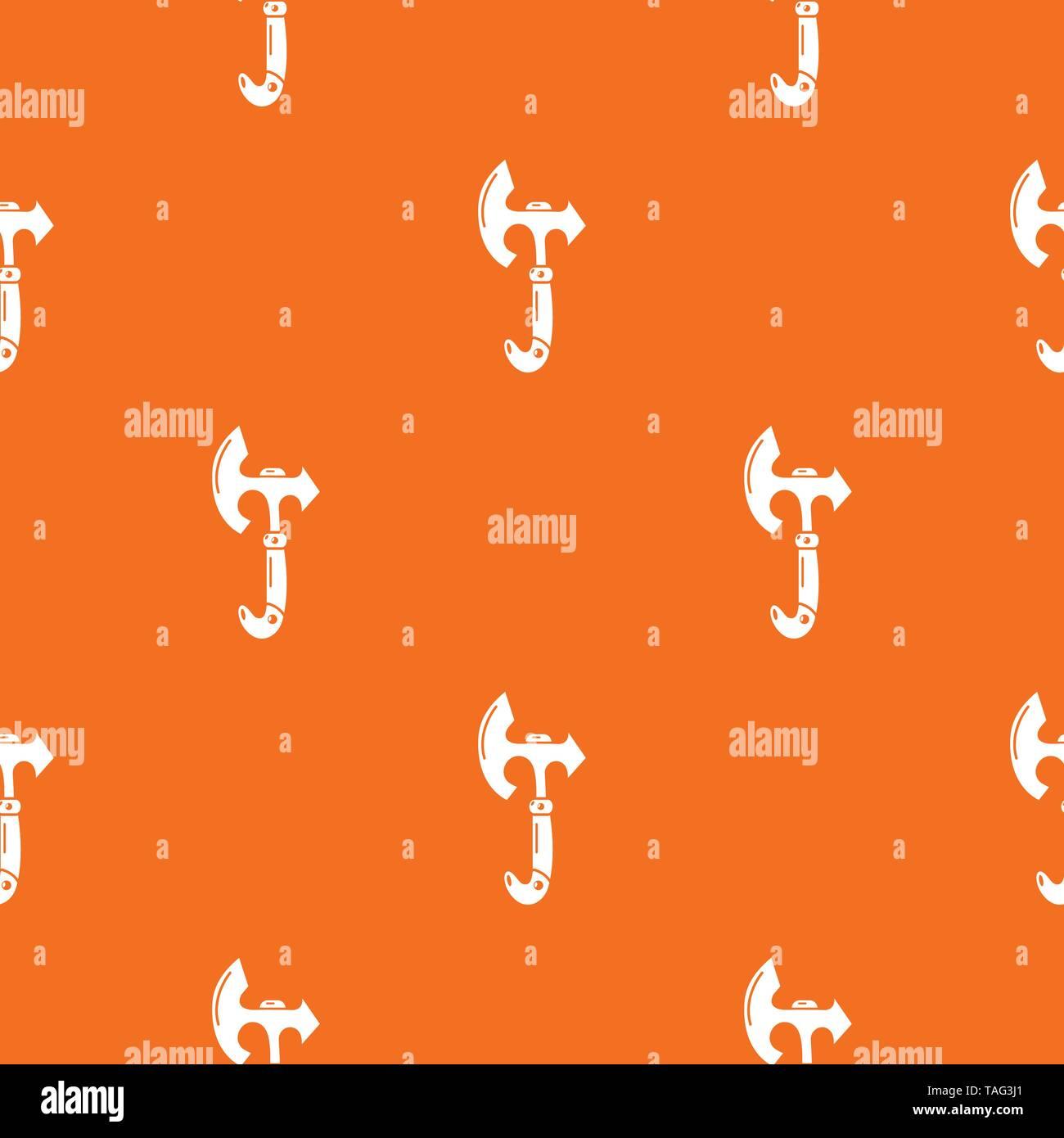 Ax heavy pattern vector orange - Stock Image