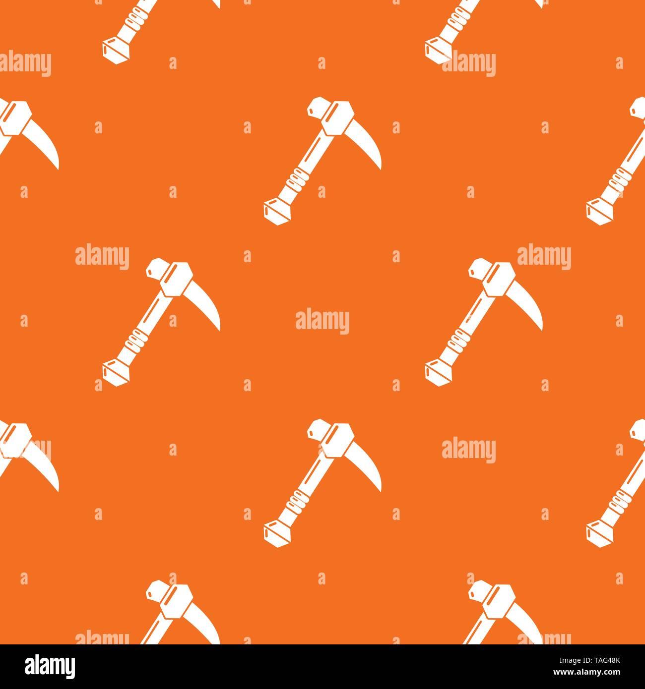 Ax pattern vector orange - Stock Image
