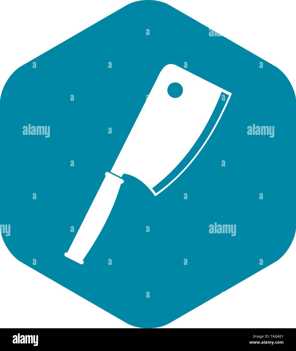 Meat knife icon, simple style - Stock Image
