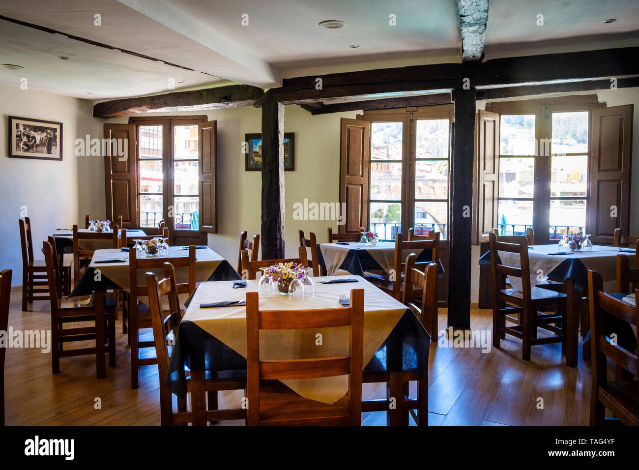 Interior Of A Classic Restaurant In Spain Europe Stock Photo Alamy