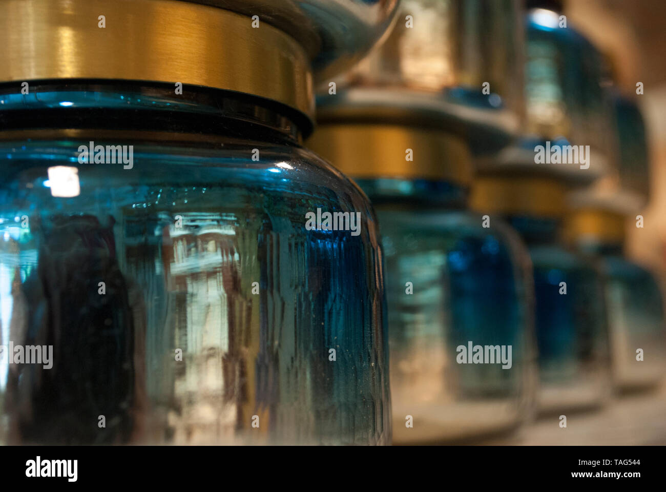 Vivid decorative blues. Background pattern. - Stock Image