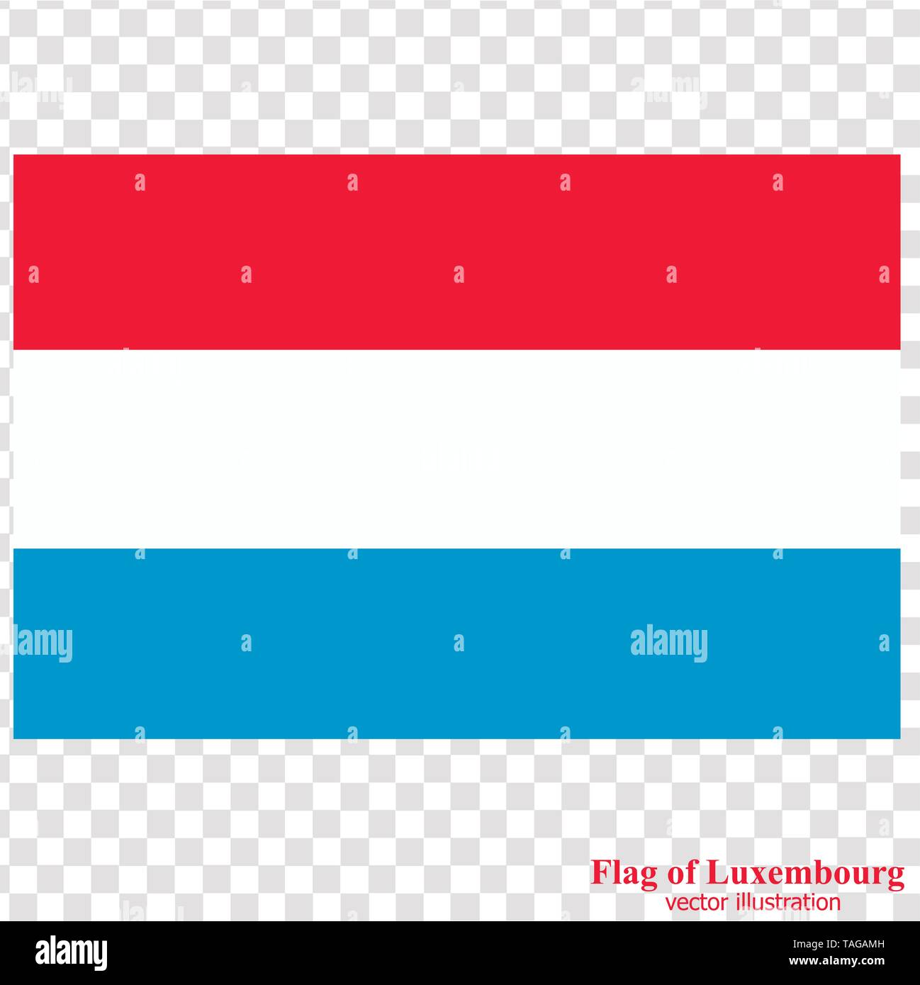 Banner with flag of Luxembourg. Colorful illustration with flag for web design. Illustration with transparent background. - Stock Image